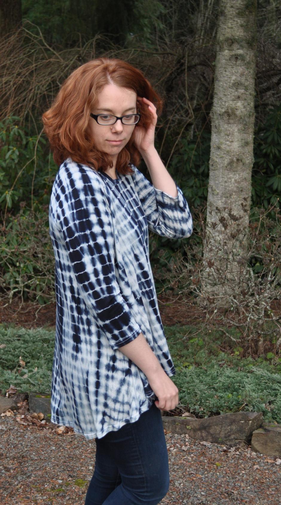 Shibori Ebony Hem | Style Maker Fabrics