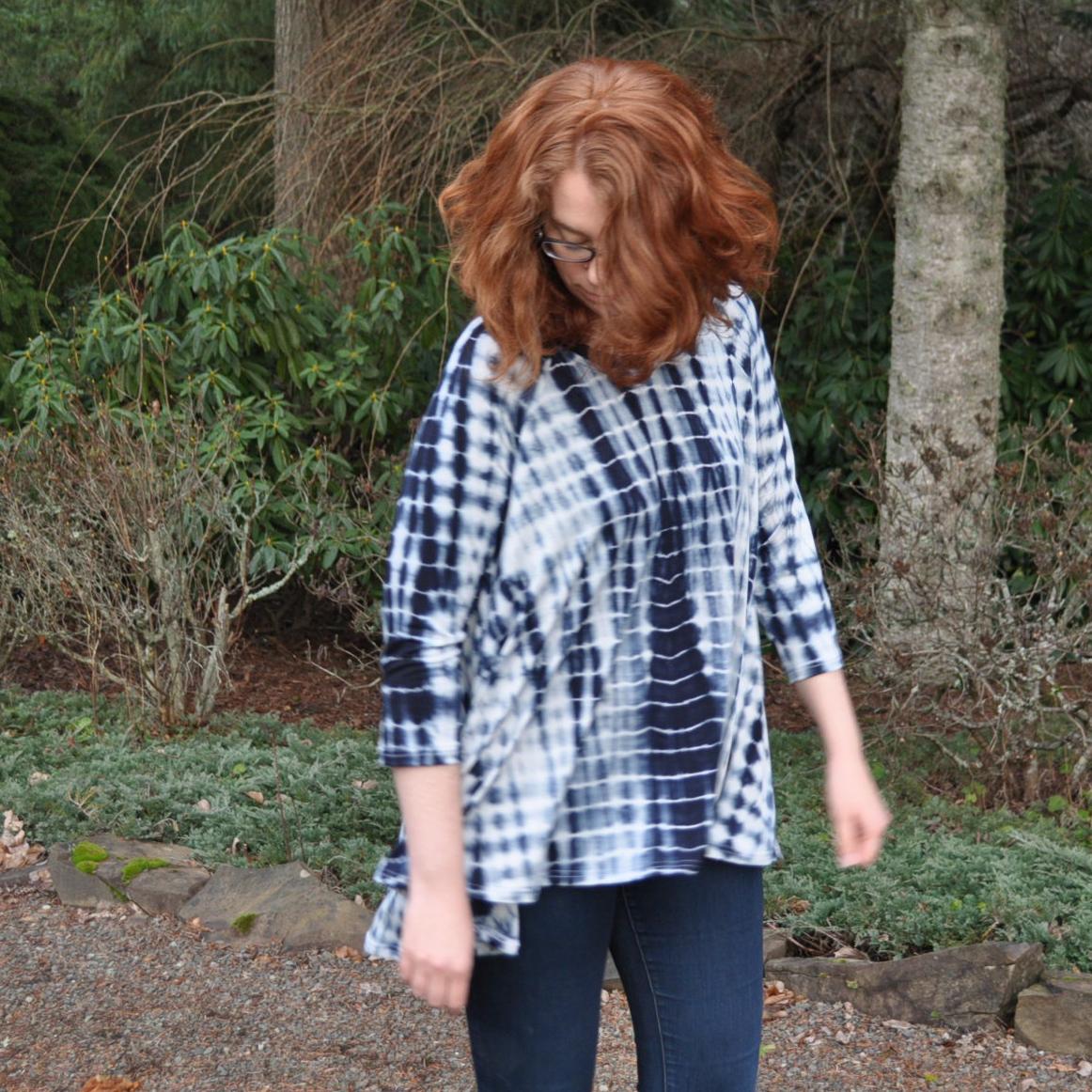 Shibori Ebony Twirl | Style Maker Fabrics