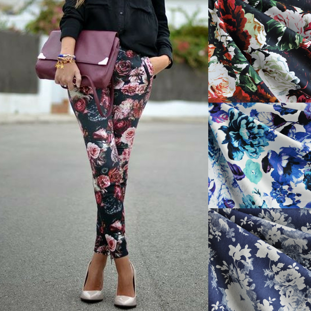 Floral Safran Pants Inspiration and Fabric Choices | Style Maker Fabrics
