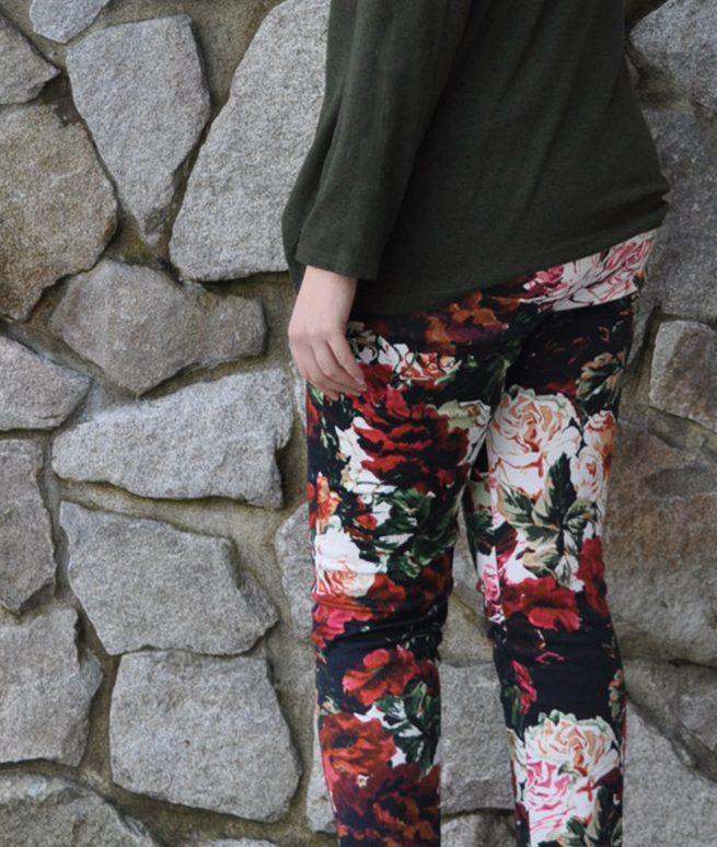 Floral Safran Pants Back | Style Maker Fabrics