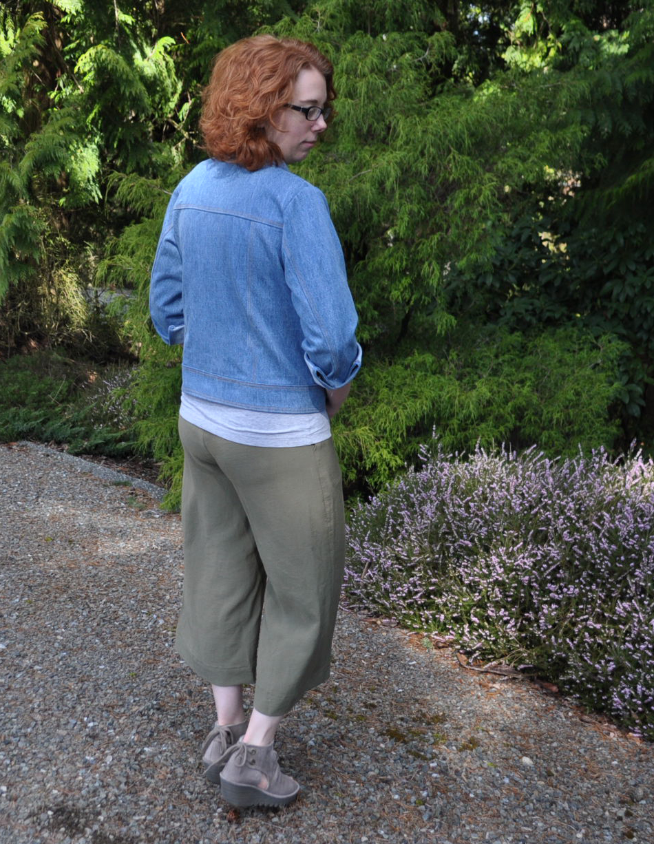 Rayon Twill Flint Pants Back | Style Maker Fabrics
