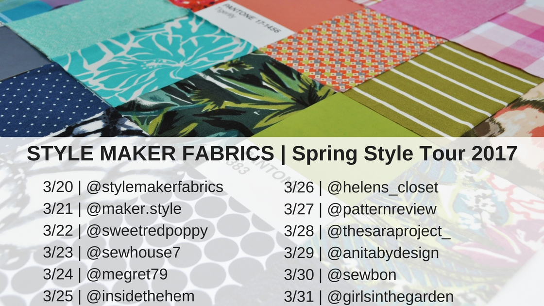 Spring Style Blog Tour Line Up | Style Maker Fabrics
