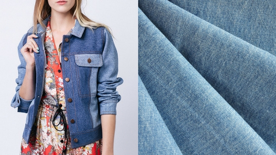 Named Maisa Jacket Pattern and Washed Selvage Denim | Style Maker Fabrics