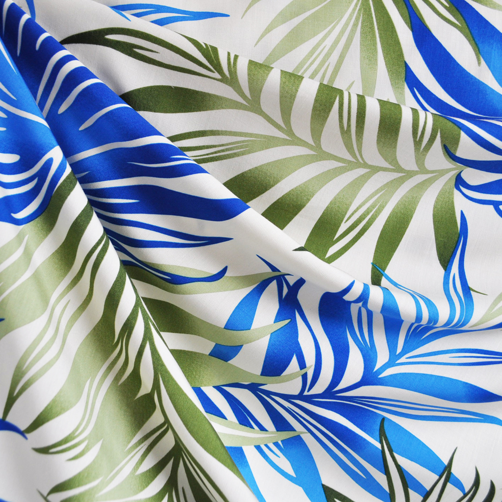Tropical Leaves Shirting | Style Maker Fabrics