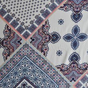 Bohemian Block Print Rayon | Style Maker Fabrics