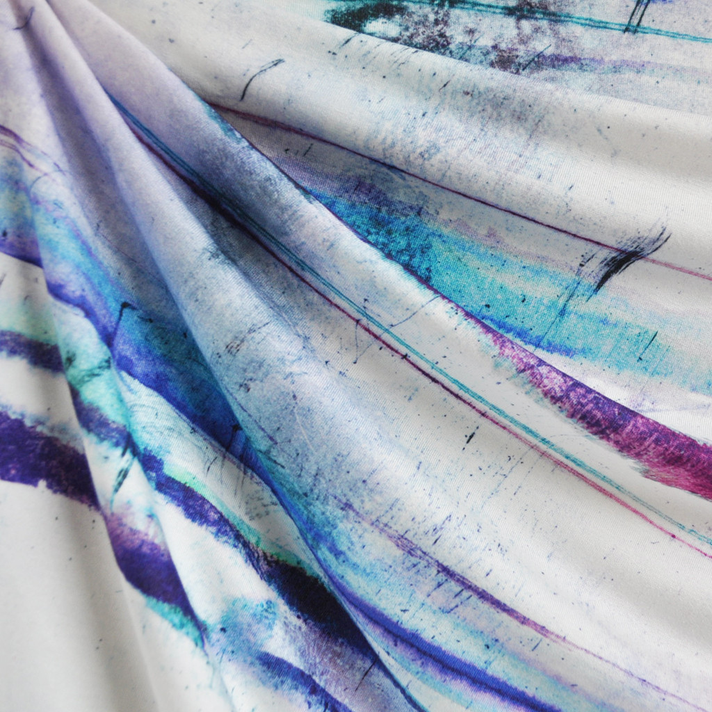 Watercolor Stripe Jersey | Style Maker Fabrics