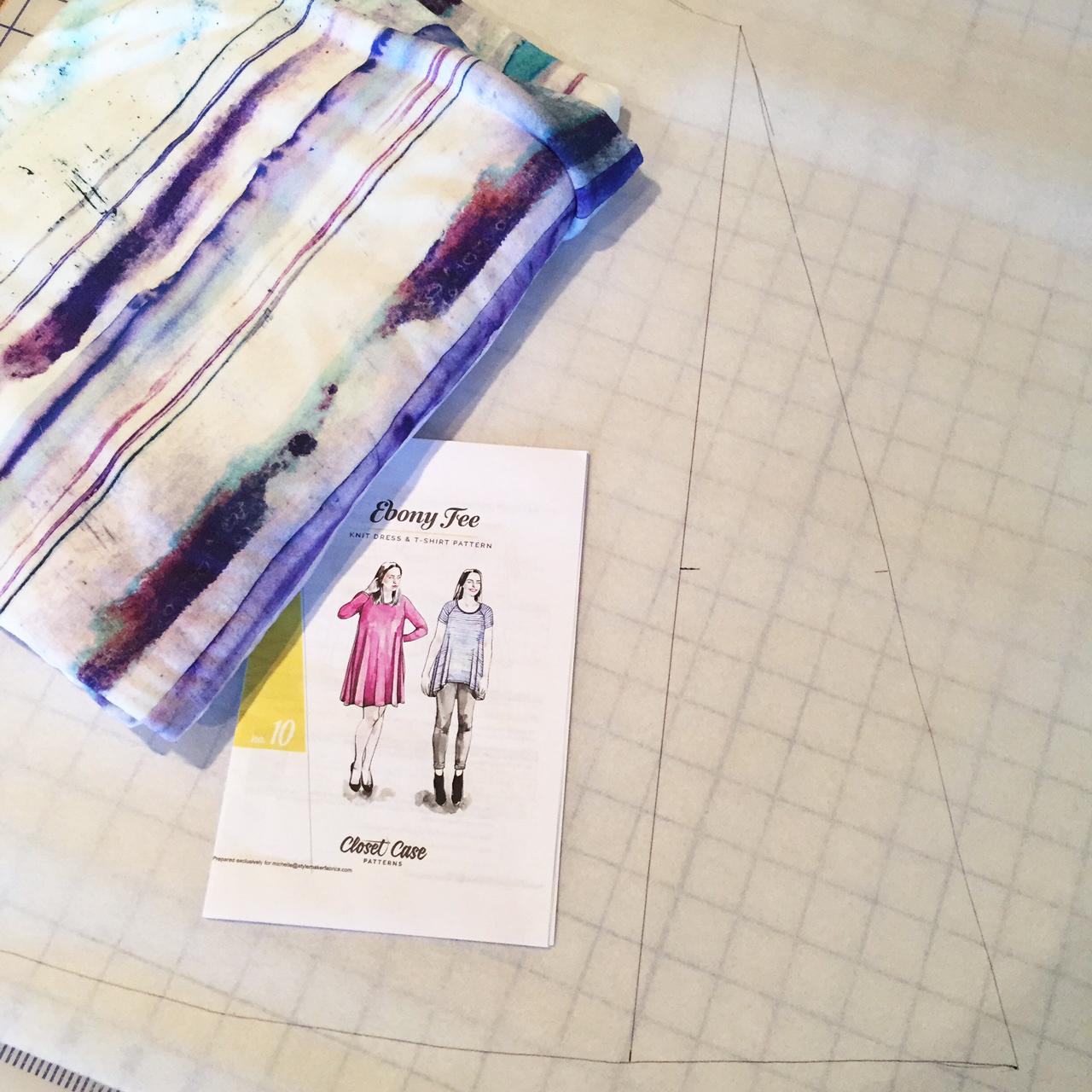 Redrawing the Ebony Pattern Pieces   Style Maker Fabrics