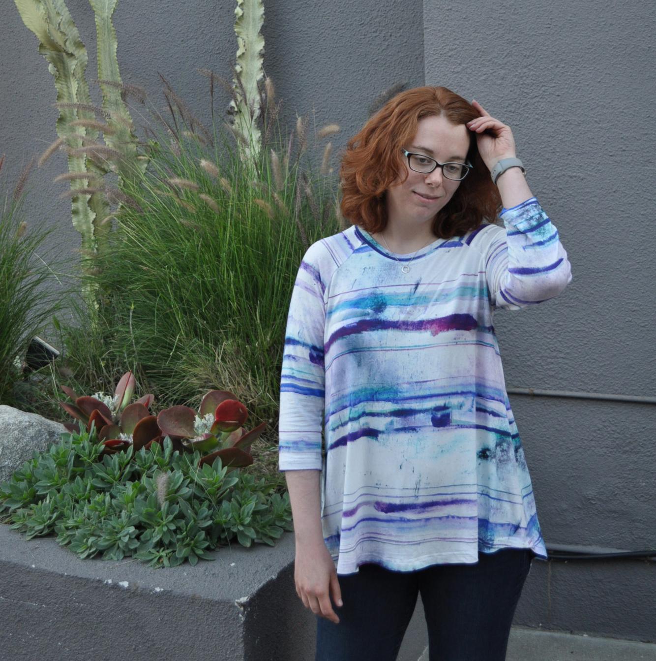 Watercolor Ebony Front | Style Maker Fabrics