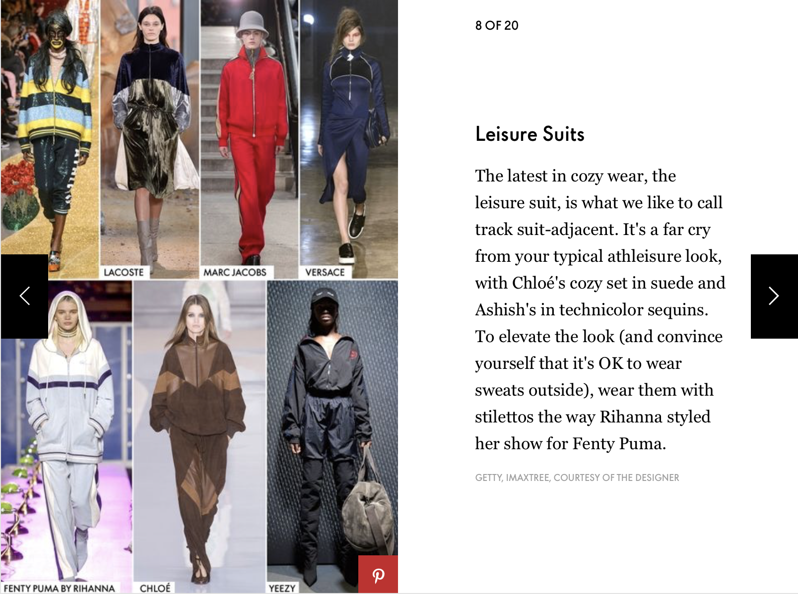 Elle Fall Fashion Trends | Leisure Suits