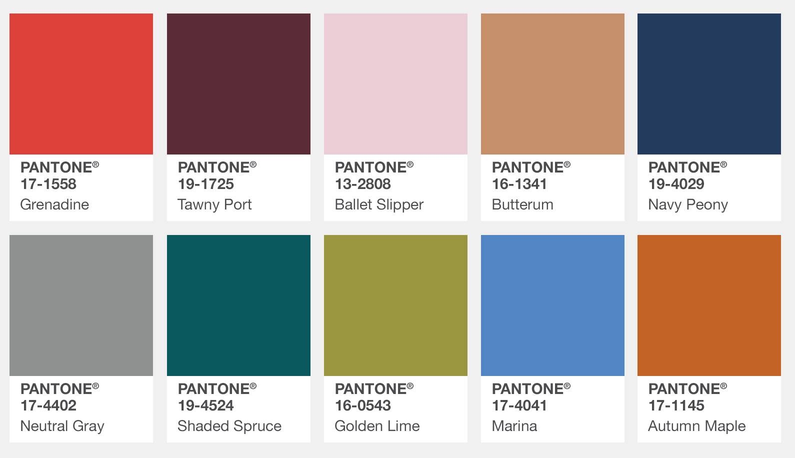 Pantone Fashion Color Report | Fall 2017