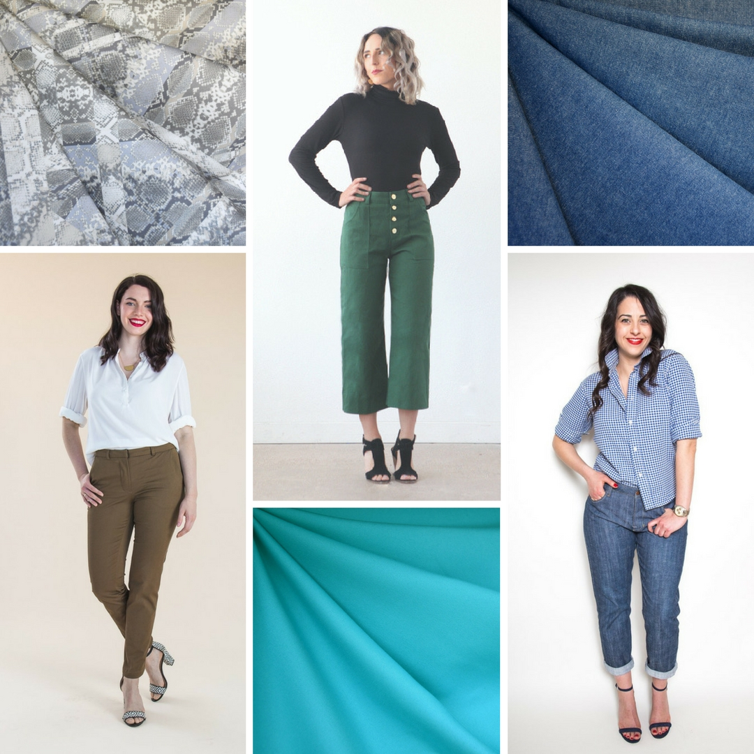 Bottoms Up | Sewing Pants for Spring | Style Maker Fabrics