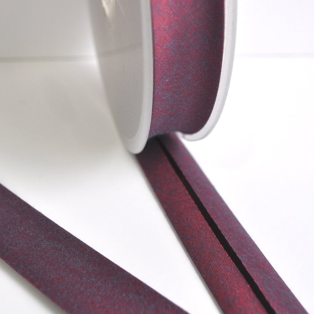 Cross Woven Bias Tape Berry | Style Maker Fabrics