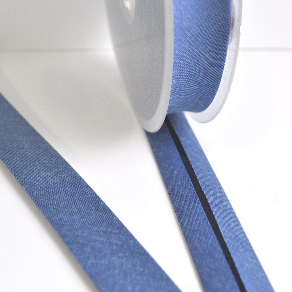 Cross Woven Bias Tape Sapphire | Style Maker Fabrics