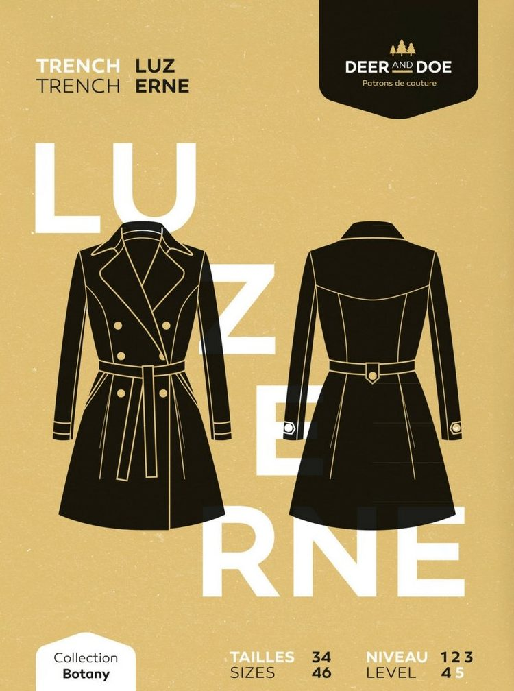 Luzerne Trench Coat Pattern | Style Maker Fabrics