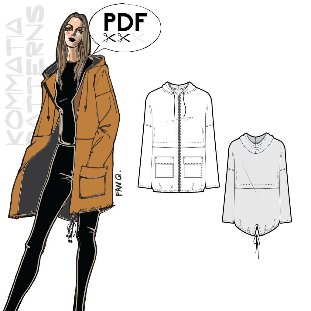 Kommatia Hooded Parka | Style Maker Fabrics