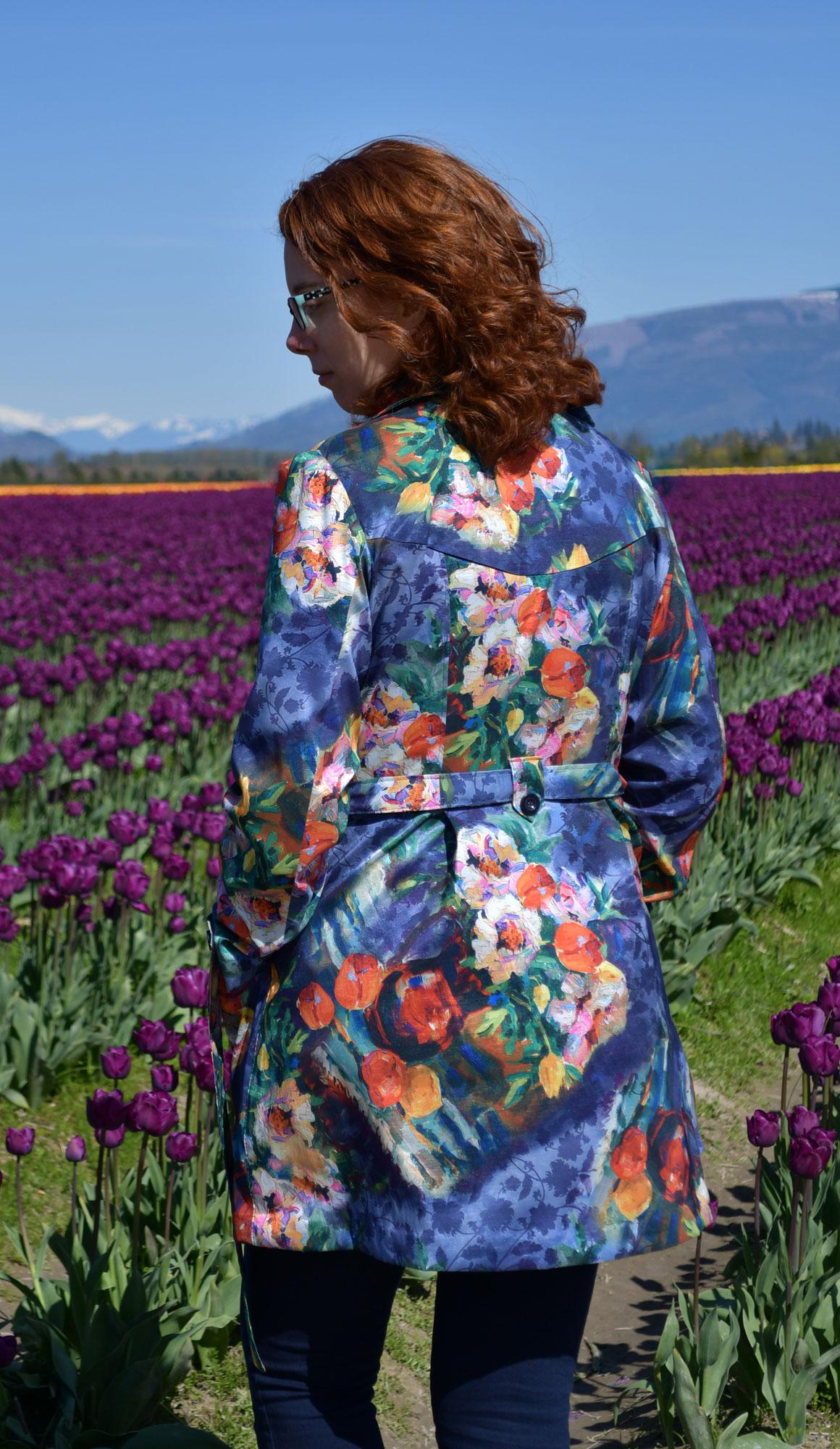 Tulip Luzerne Trench Black | Style Maker Fabrics