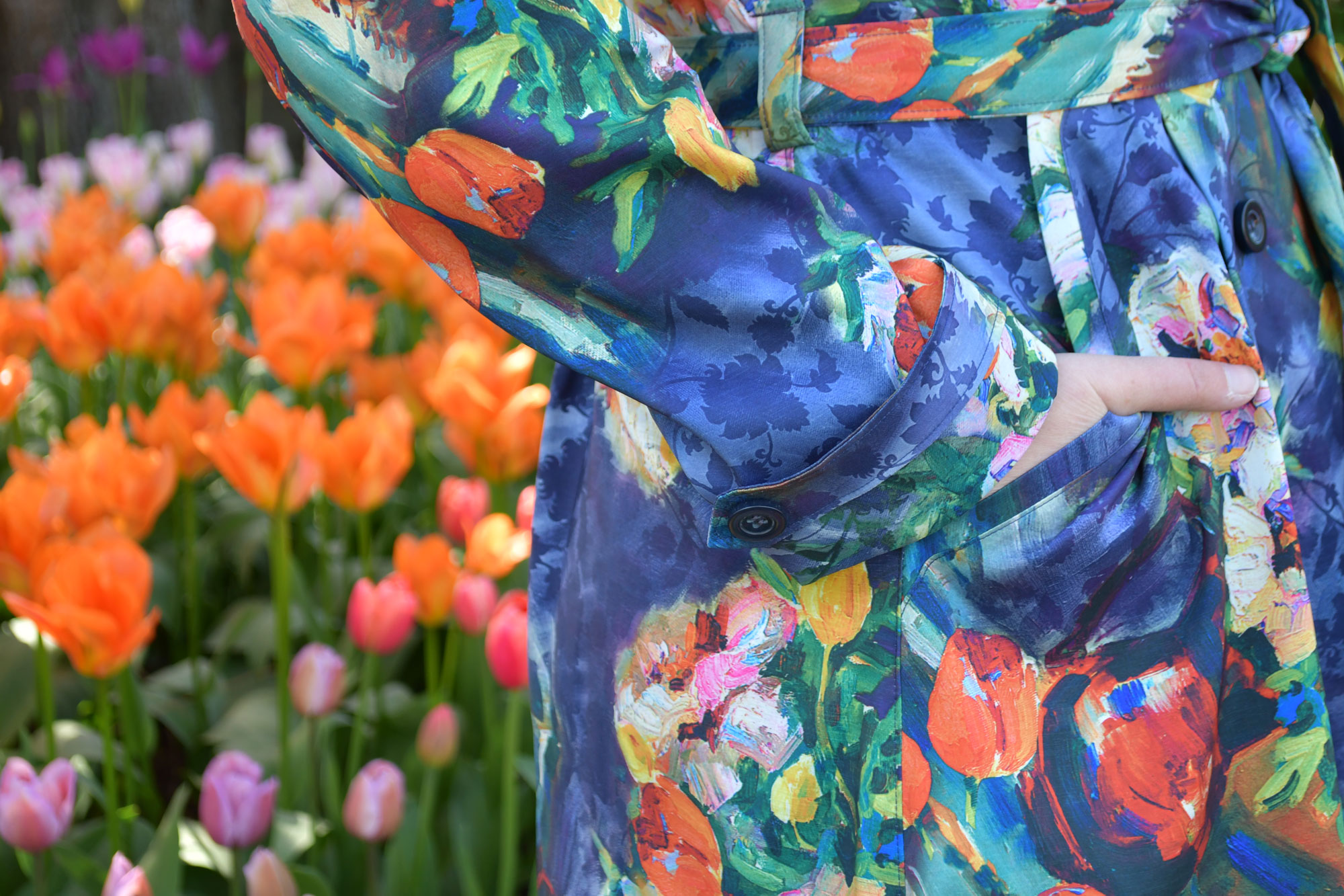 Tulip Luzerne Trench Pocket Detail | Style Maker Fabrics