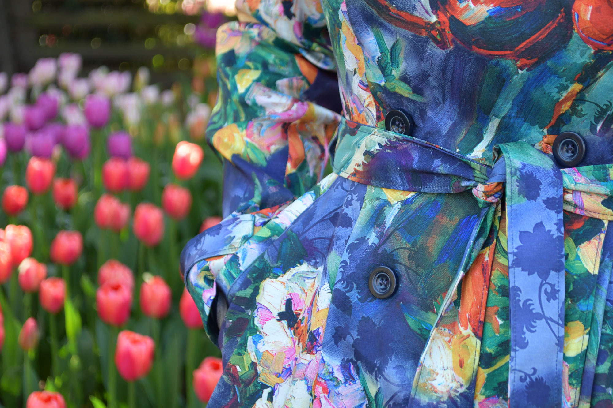 Tulip Luzerne Trench Waist Detail | Style Maker Fabrics