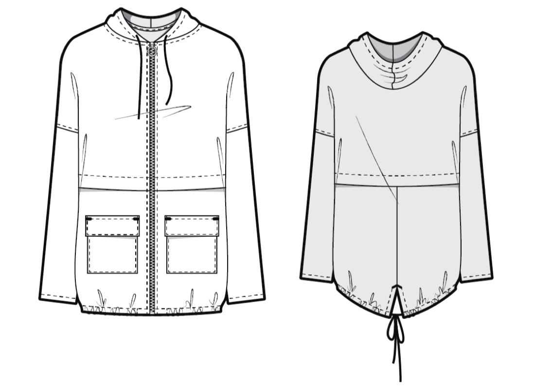 Pattern Outline Unlined Parka | Style Maker Fabrics