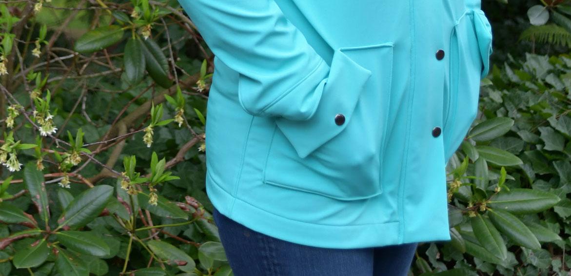Soft Shell Kelly Pocket Detail | Style Maker Fabrics