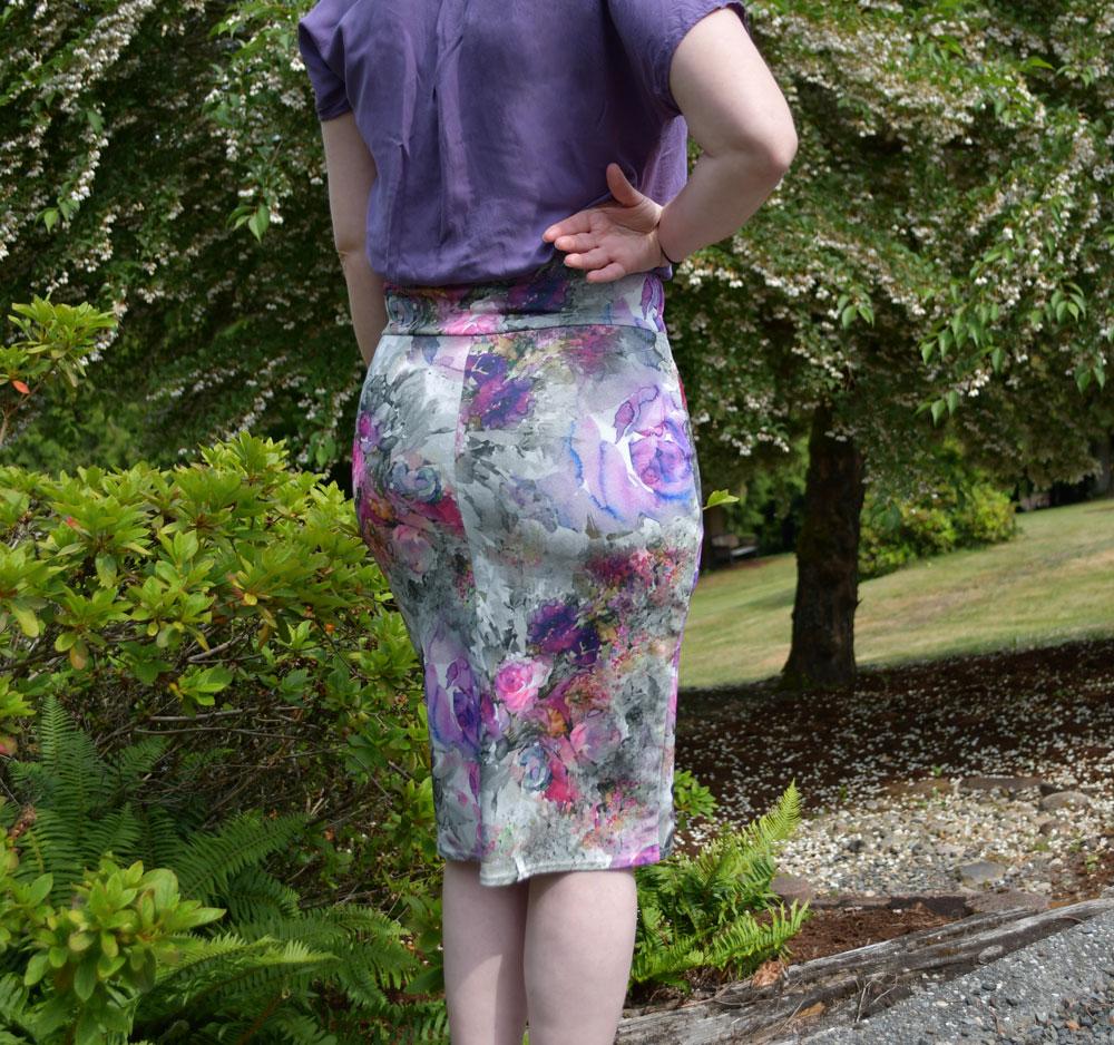 Watercolor Floral Axel Skirt Back | Style Maker Fabrics