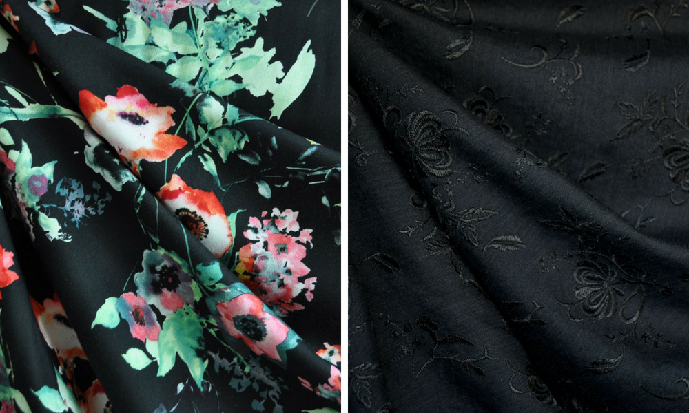 Metamorphic Dress in Black Florals | Style Maker Fabrics