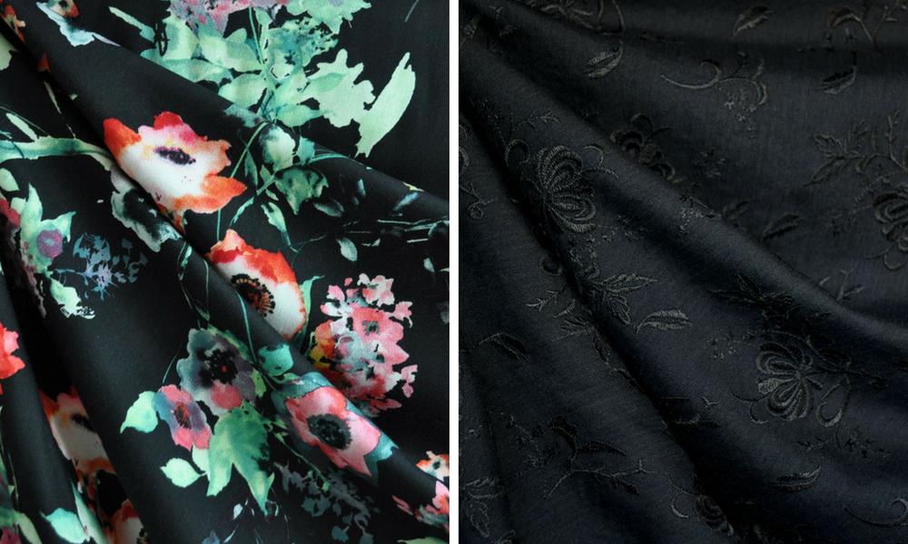 Metamorphic Dress in Black Florals | Style Maker Fabrics