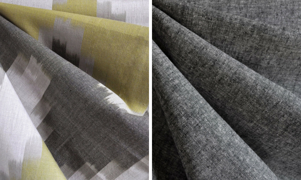 Metamorphic Dress in Ikat and Linen | Style Maker Fabrics