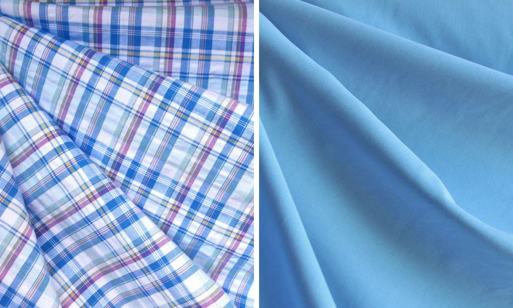 Metamorphic Dress in Plaid and Tencel Shirting | Style Maker Fabrics