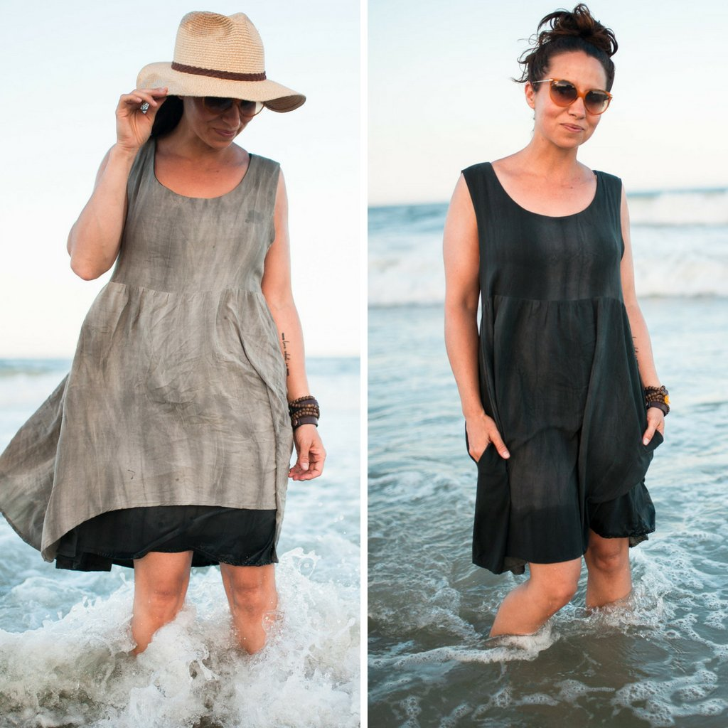 Reversible Metamorphic Dress Side By Side | Style Maker Fabrics