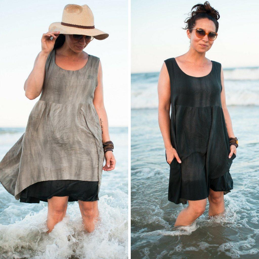 Reversible Metamorphic Dress Side By Side | Style Maker Fabrics