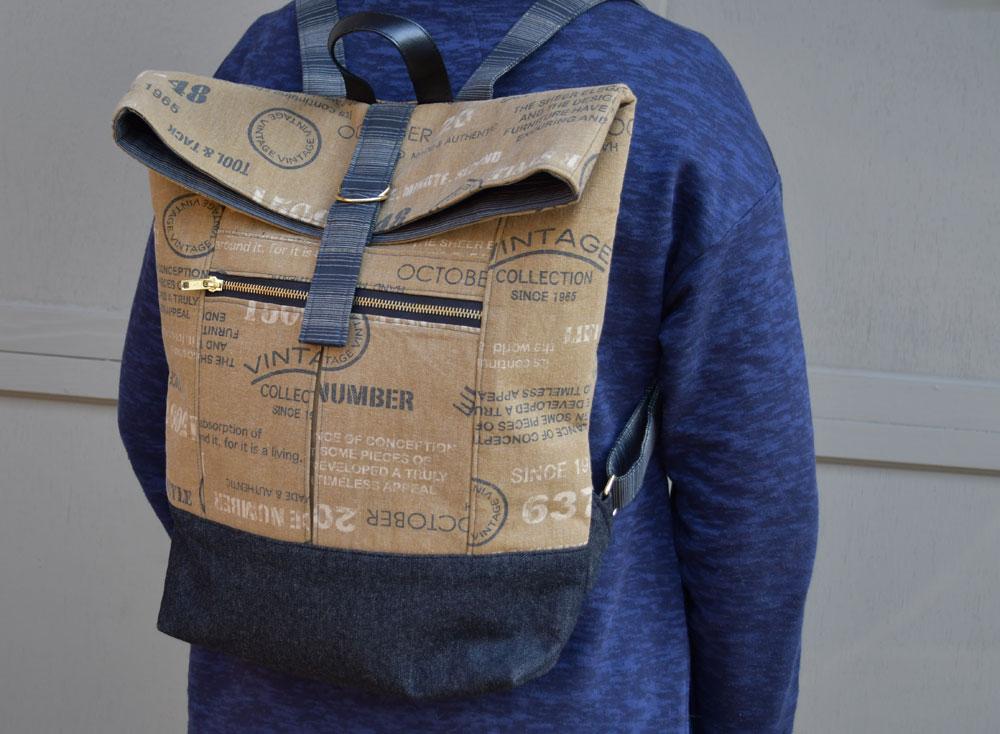 Range Backpack Worn   Style Maker Fabrics