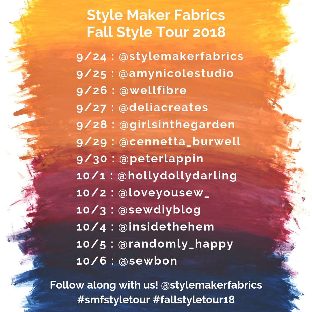 Fall Style Tour Schedule 2018 | Style Maker Fabrics