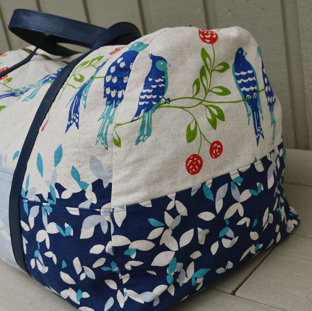 Japanese Canvas Portside Duffle Side View | Style Maker Fabrics
