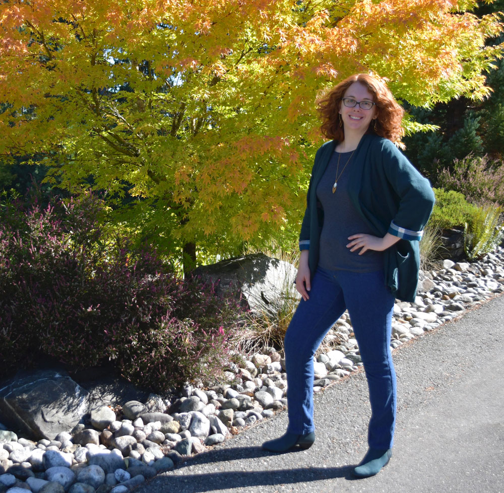 Fall Layers: Oversized Jacket and Jeans | Style Maker Fabrics