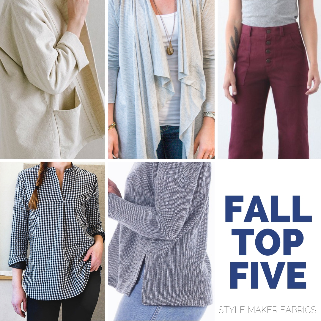 Top Five Fall Indie Patterns to Sew | Style Maker Fabrics