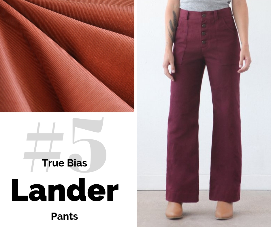 True Bias Lander Pants | Top Indie Pattern | Style Maker Fabrics