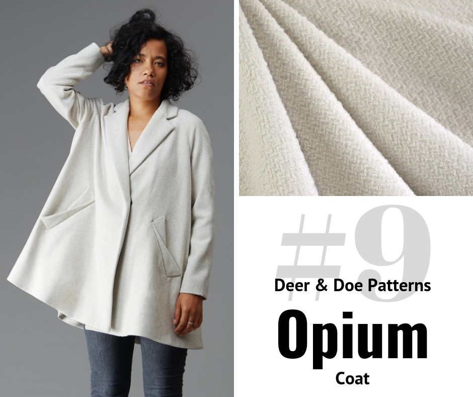 Deer and Doe Patterns Opium Coat | Style Maker Fabrics