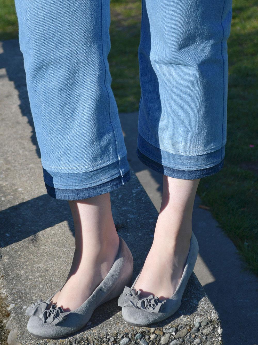 Cropped Dawn Jeans Hem Detail | Style Maker Fabrics