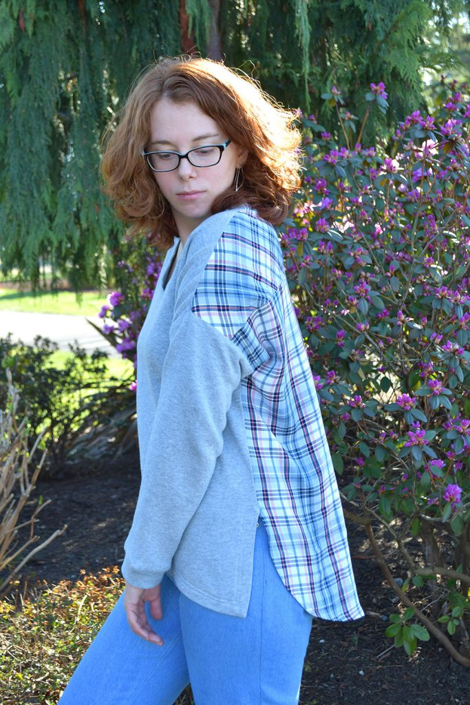 Finished Tabor Pullover Hack | Style Maker Fabrics