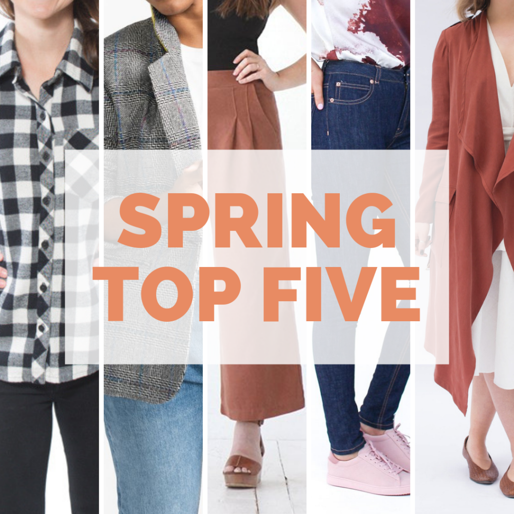 Spring Top 5 Indie Patterns | Style Maker Fabrics