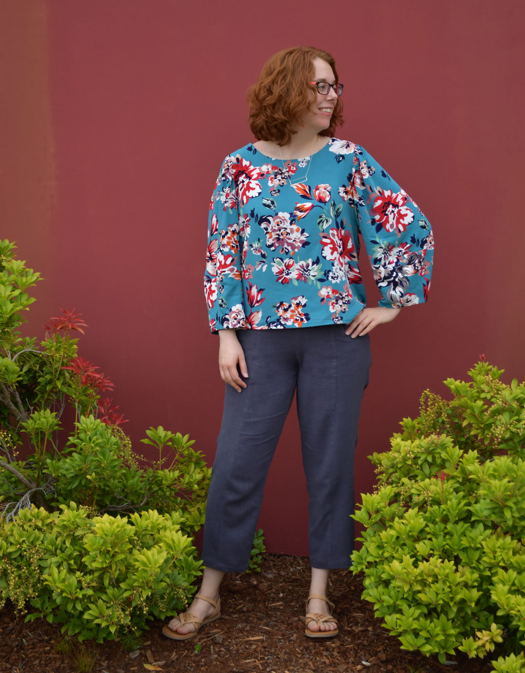 Cielo Top and Pietra Pants Outfit | Style Maker Fabrics