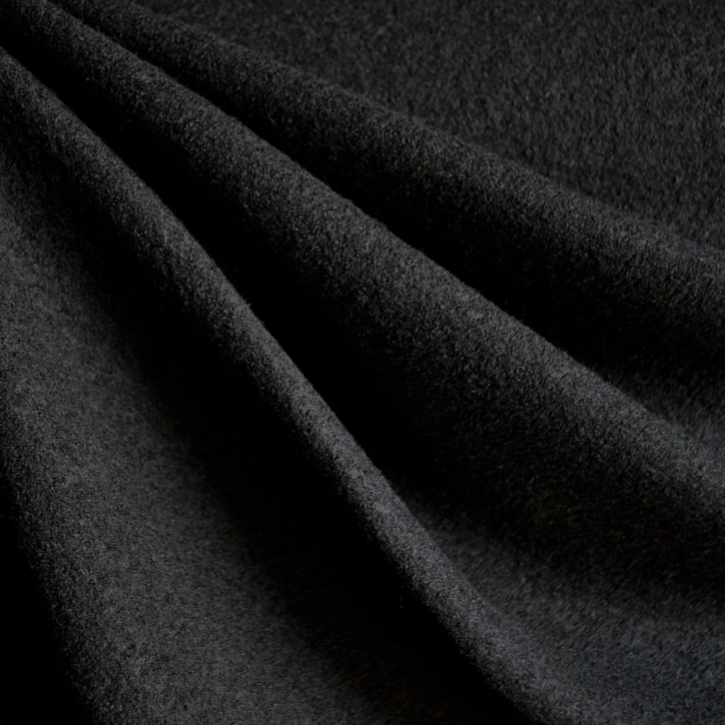Boiled Wool Blend Black | Style Maker Fabrics