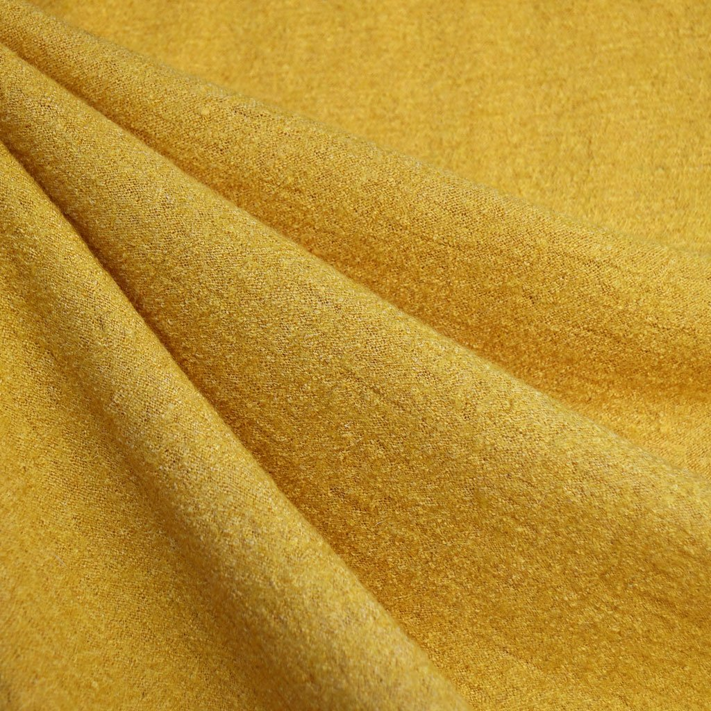 Boiled Wool Blend Mustard | Style Maker Fabrics