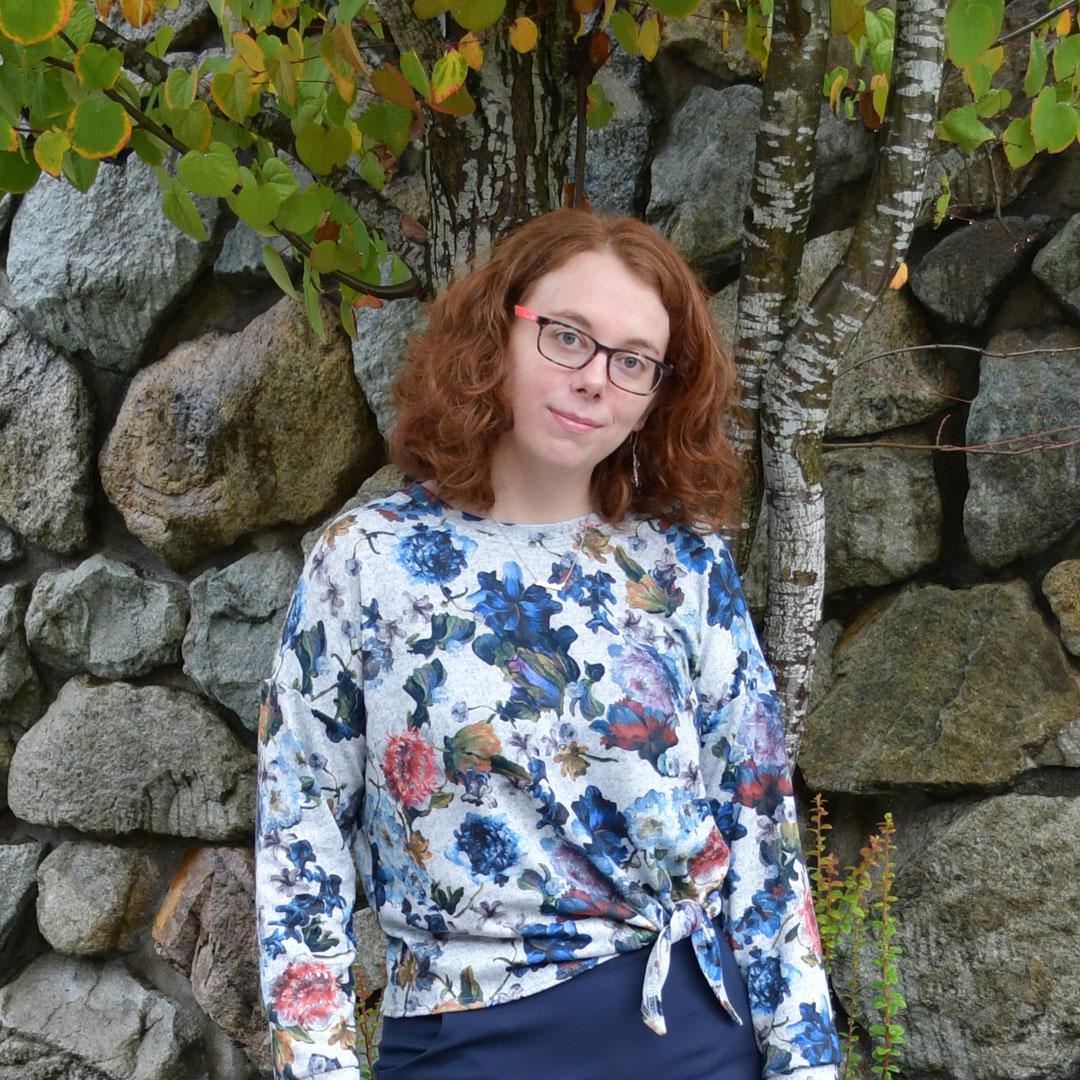 Moody Floral Jarrah Sweater | Style Maker Fabrics