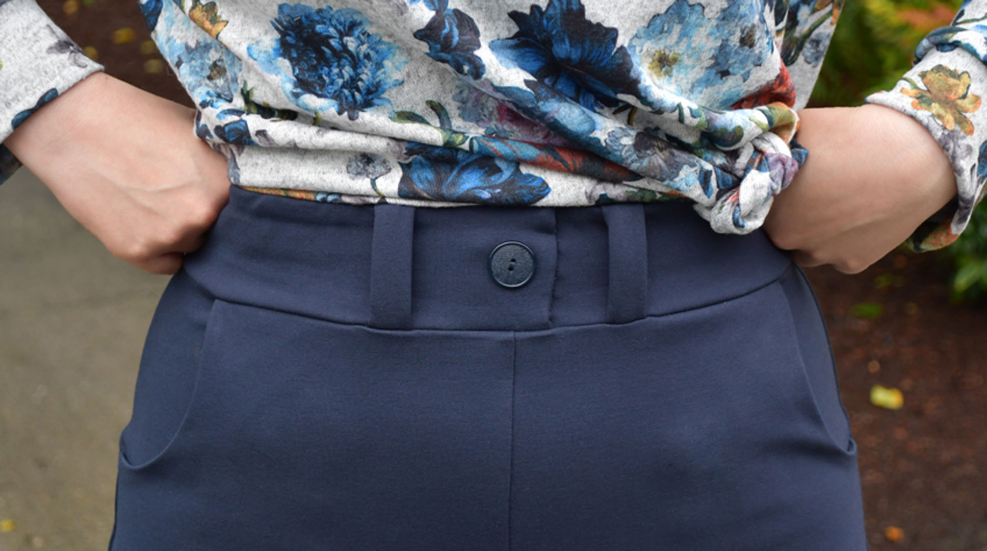 Joan Trousers Waistband Detail | Style Maker Fabrics