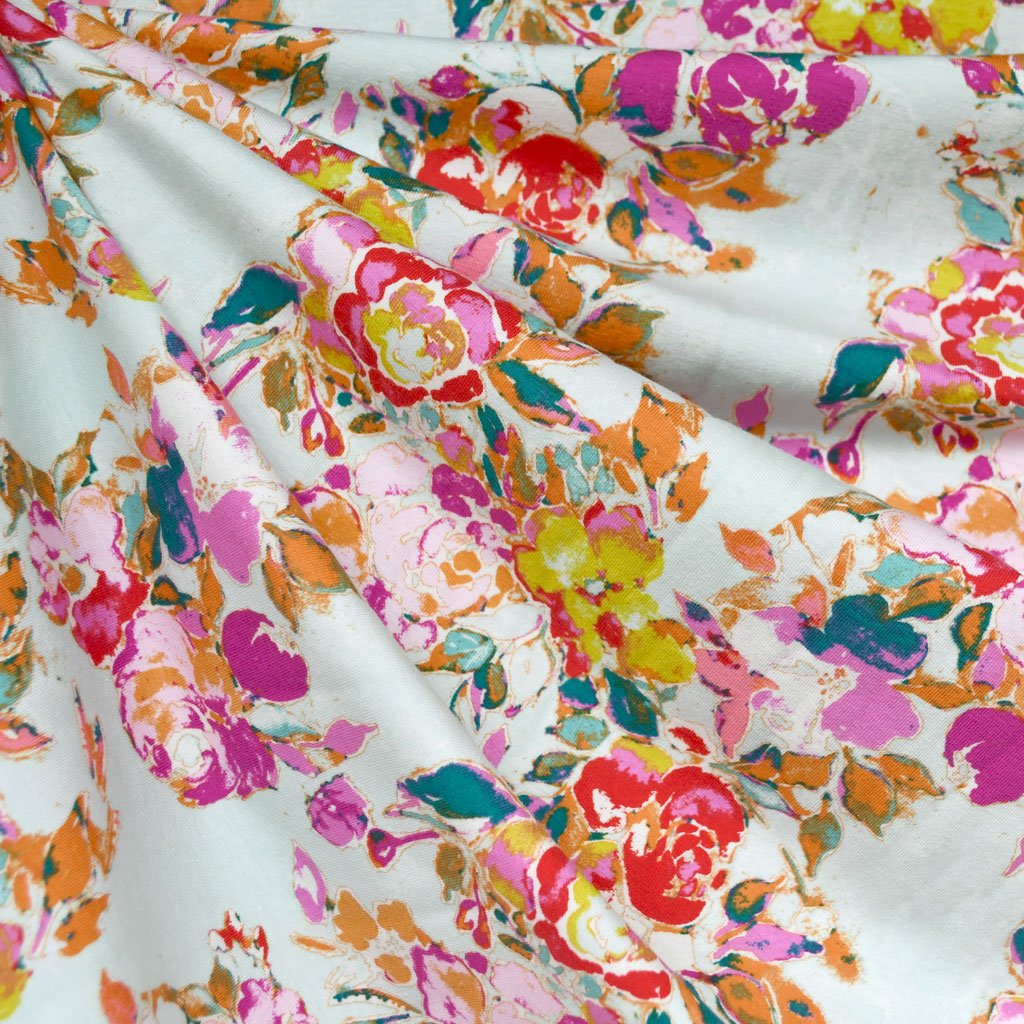 Bloomsbury Floral Jersey Knit | Style Maker Fabrics