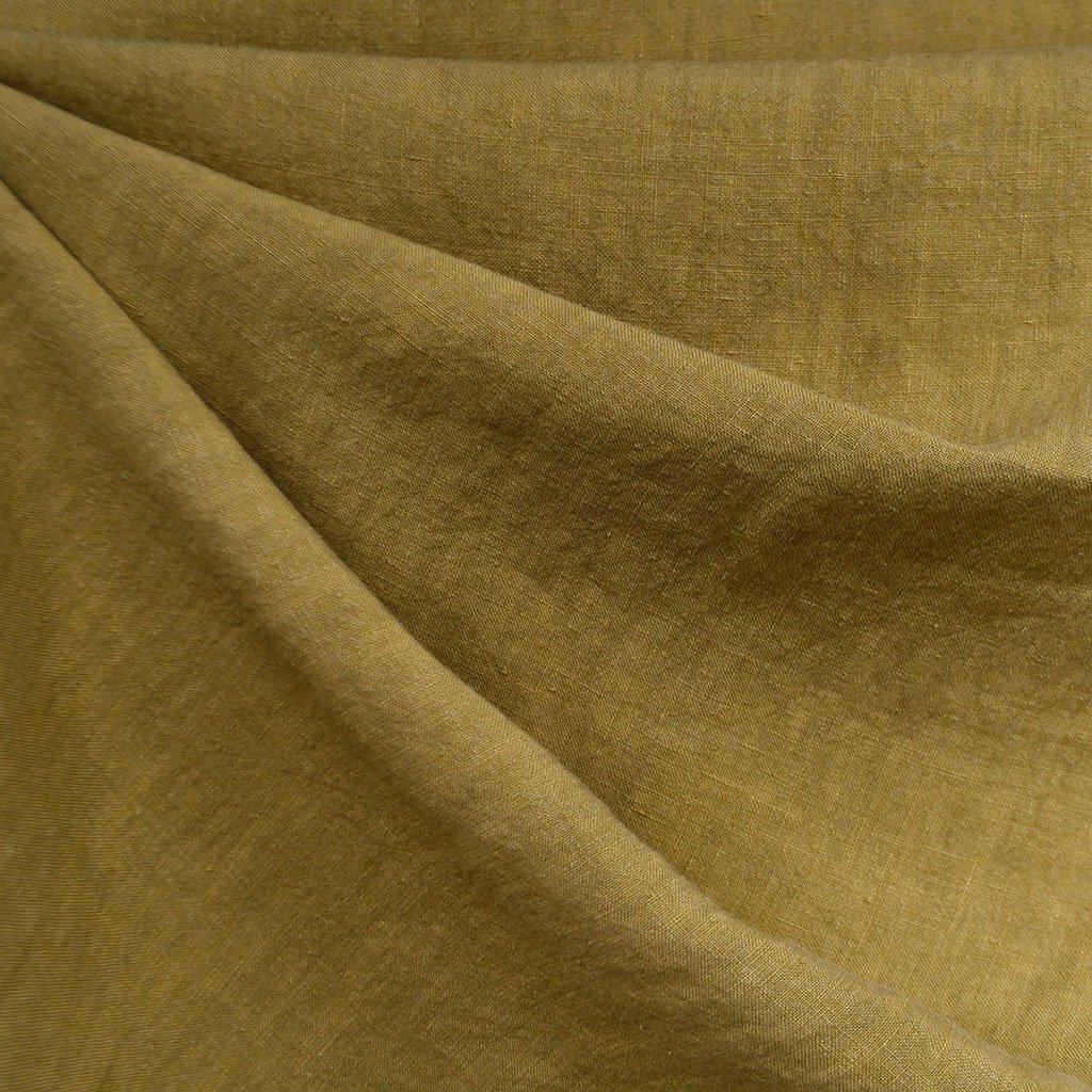 Soft Washed Linen Solid Avocado | Style Maker Fabrics