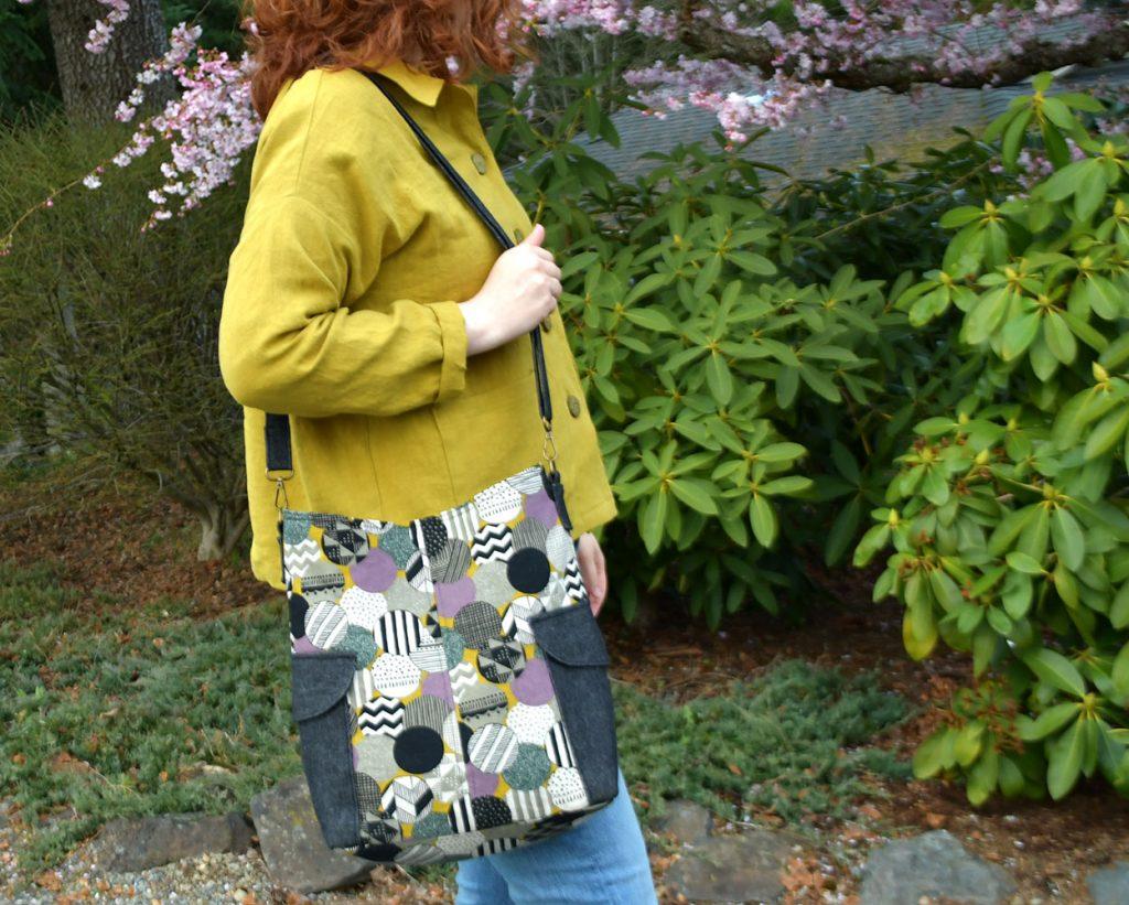 Linen Ilford Jacket + Matching Compass Bag   Style Maker Fabrics