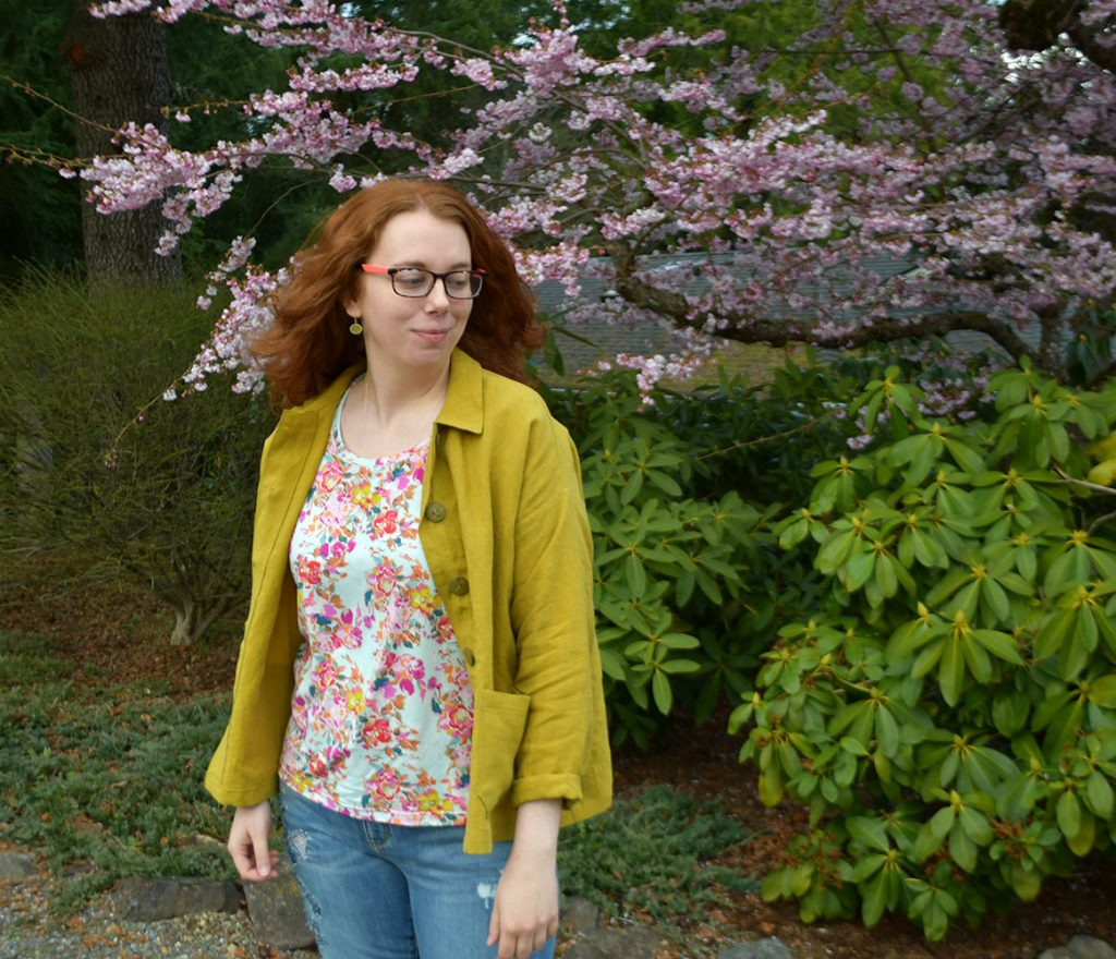 Spring Linen Jacket Outfit   Style Maker Fabrics